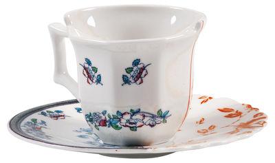 Tasse à café Hybrid Leonia Set tasse à café + soucoupe - Seletti multicolore en céramique