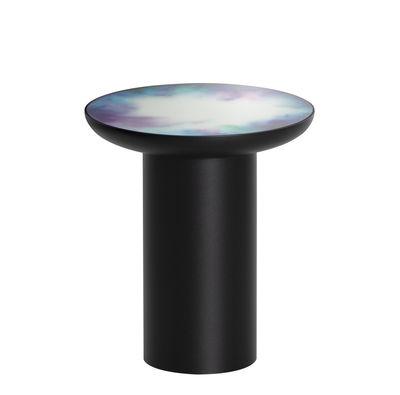 Arredamento - Tavolini  - Tavolino d'appoggio Francis - / Ø 40 x H 45 cm - Specchio di Petite Friture - Nero / Specchio colorato - Acciaio verniciato, Vetro Securit colorato