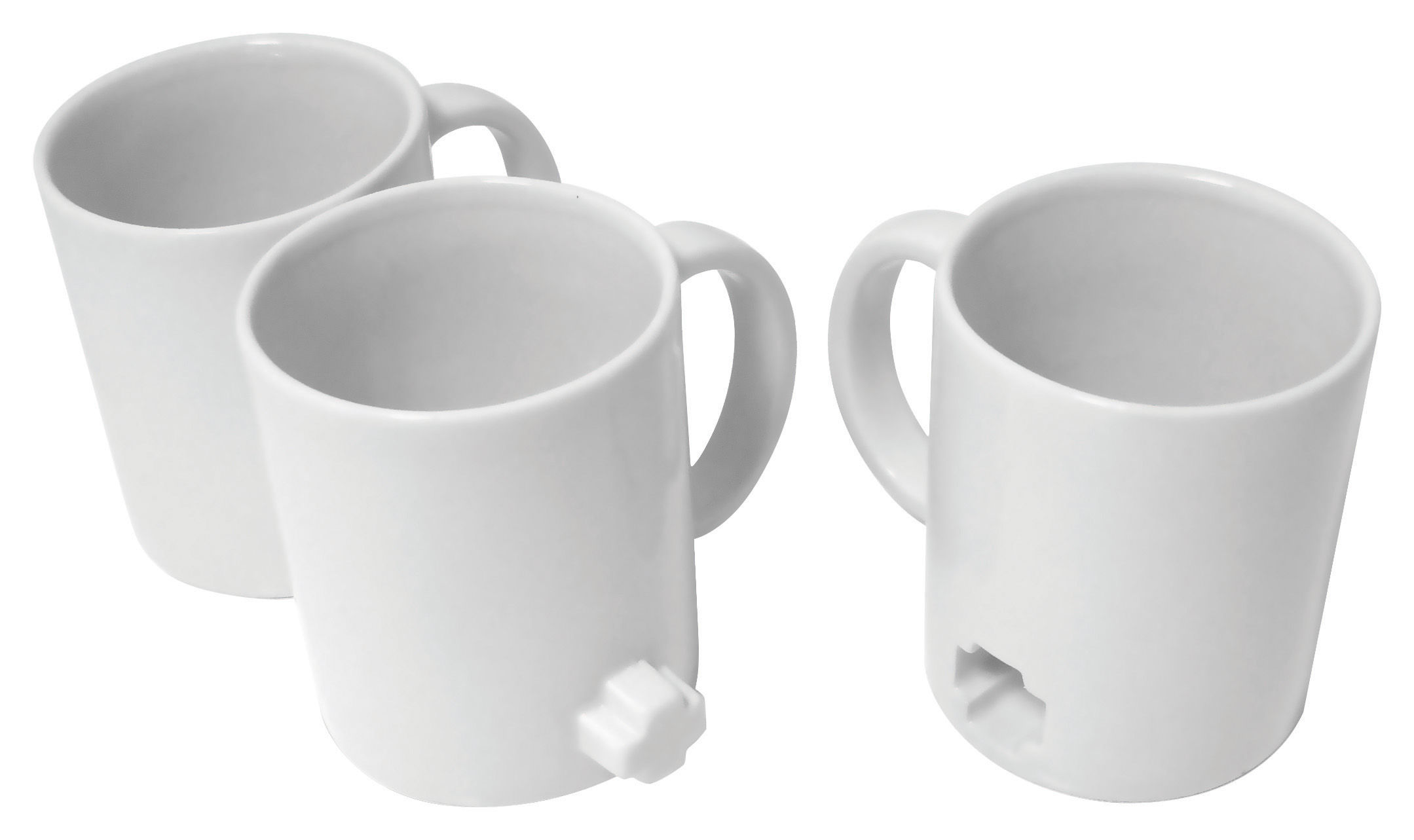 Tavola - Tazze e Boccali - Tazza Link mugs - confezione da 3 di Thelermont Hupton - Bianco - Argilla cotta