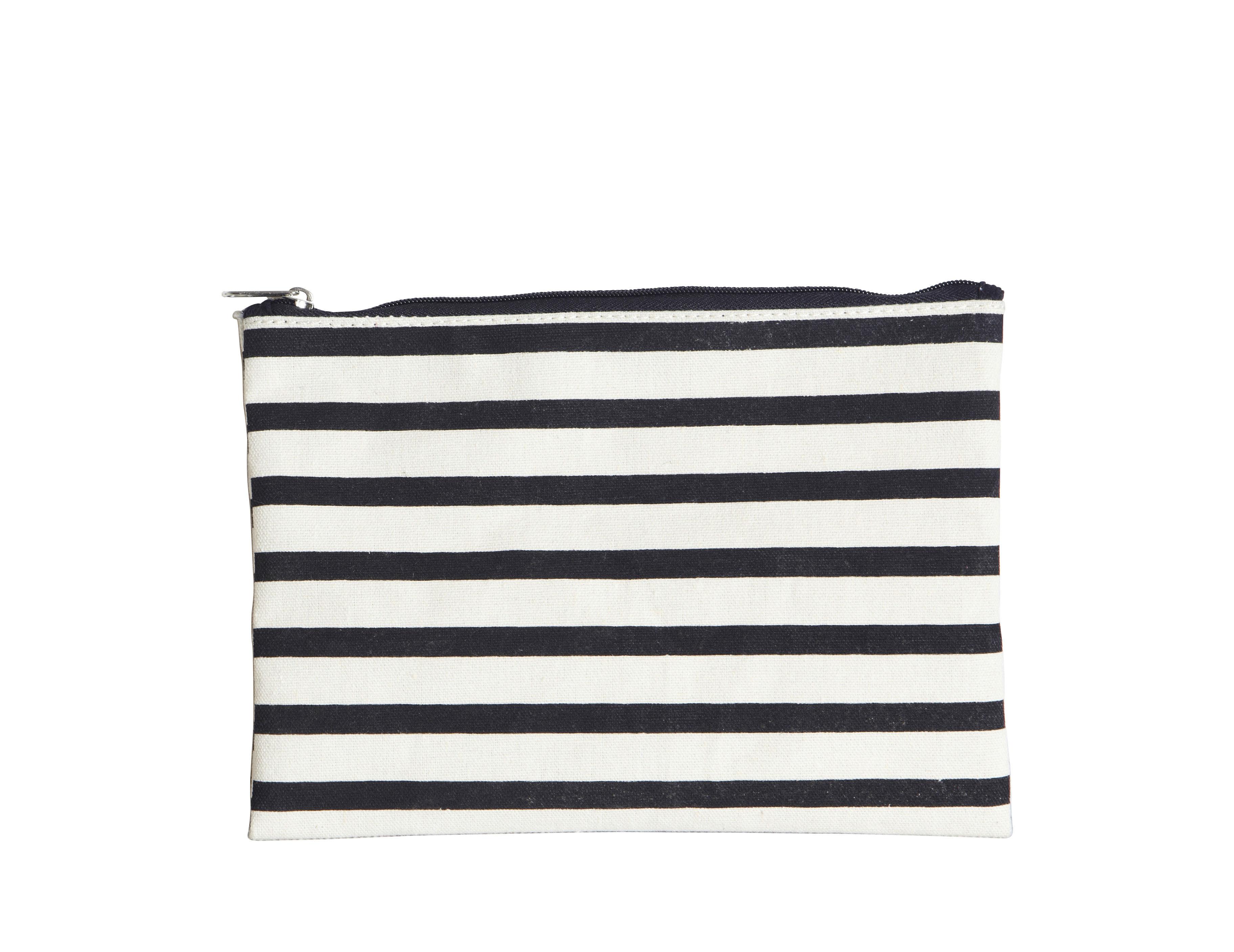 Accessoires - Sacs, trousses, porte-monnaie... - Trousse à maquillage Stripes / 21 x 15 cm - House Doctor - Rayures - Conton enduit