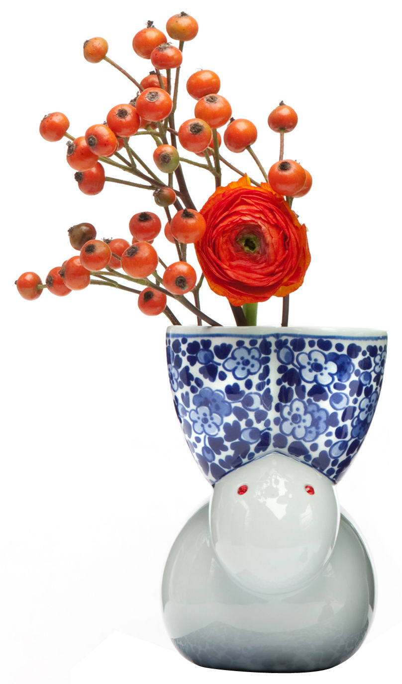 Decoration - Vases - Delft Blue 9-2 Vase by Moooi - White & blue - China