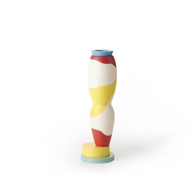 Déco - Vases - Vase Projet Memphis / By George J. Sowden - BITOSSI CERAMIQUE - Jaune & blanc - Céramique