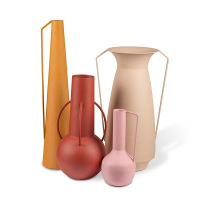 Déco - Objets déco et cadres-photos - Vase Roman / Set de 4 - Métal (usage décoratif seulement) - Pols Potten - Tons roses - Fer laqué époxy, finition sablée mate
