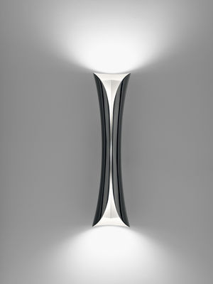 Lighting - Wall Lights - Cadmo LED Wall light by Artemide - Black / white inside - Aluminium, Thermoplastic material