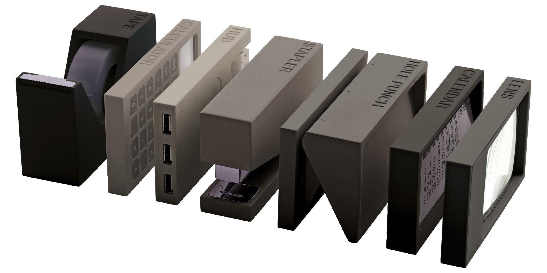 Accessori ufficio buro lexon grigio l 25 4 x l 9 x h 13 made in design - Accessori ufficio design ...