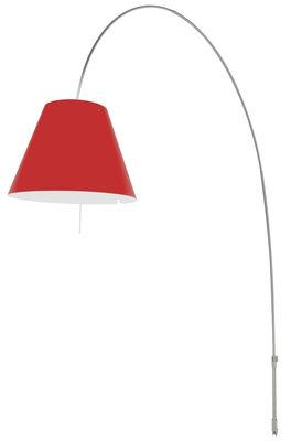 Applique avec prise Lady Costanza / Fixation murale - Luceplan rouge,aluminium en matière plastique
