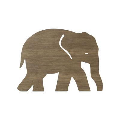 Interni - Per bambini - Applique con presa Elephant - / Rovere di Ferm Living - Rovere fumé - Impiallacciatura di rovere