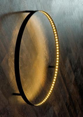 Illuminazione - Lampade da parete - Applique Curves - Ø 60 cm di Le Deun - Noir Ø 60 cm - Acciaio
