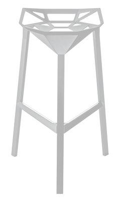 Furniture - Bar Stools - Stool One Bar stool - H 77 cm - Metal by Magis - White - Aluminium