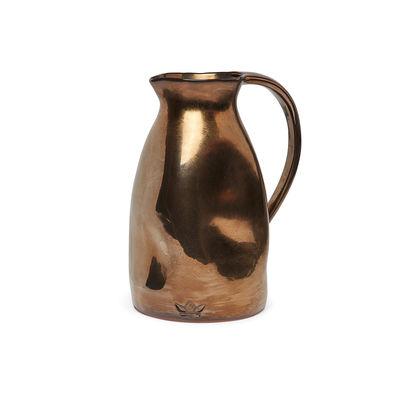 Arts de la table - Carafes et décanteurs - Carafe Bosselée / Ø 13,5 x H 24 cm - Céramique - Dutchdeluxes - Platinum brillant - Céramique