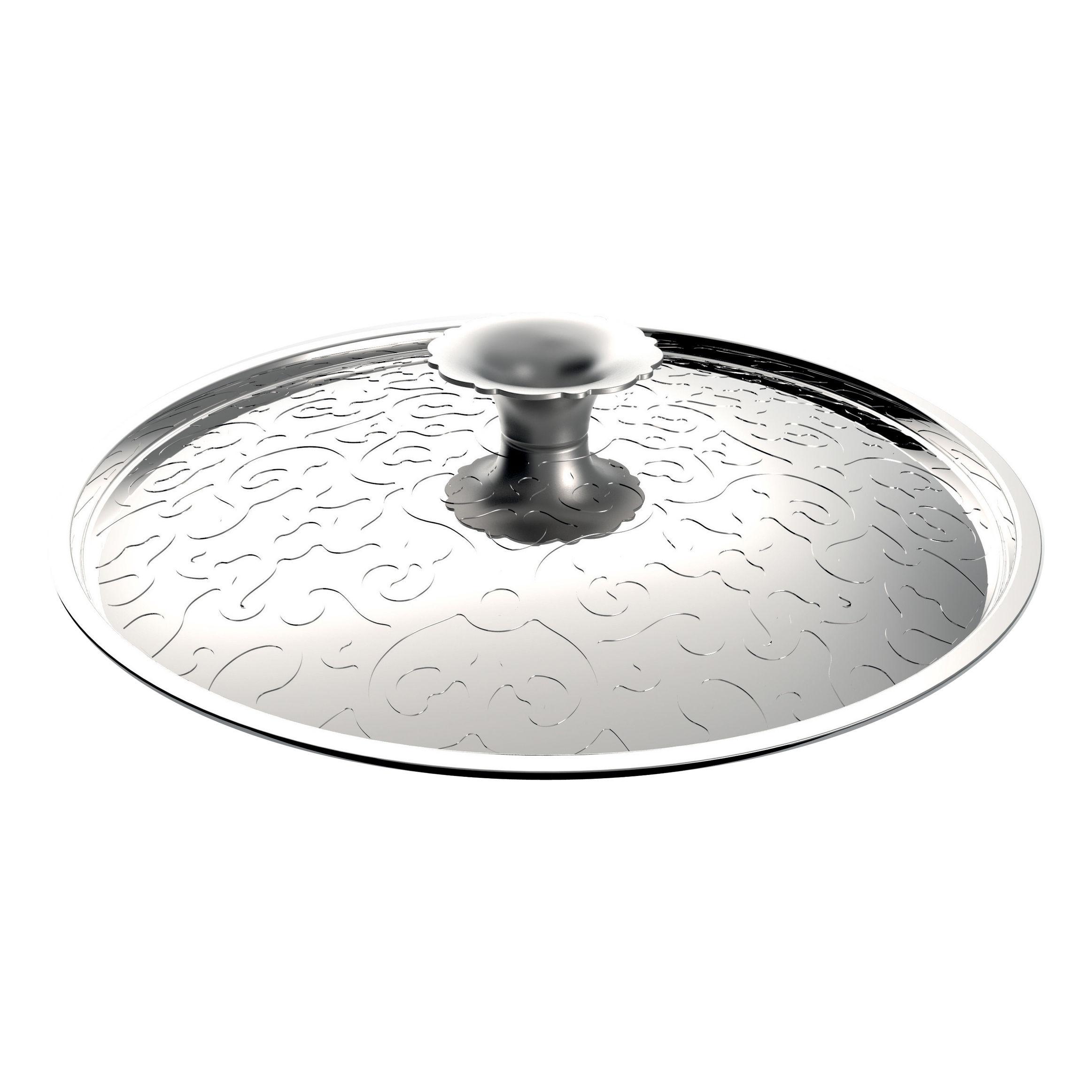Cucina - Pentole, Padelle e Casseruole - Coperchio Dressed - Ø 20 cm di Alessi - Acciaio inox - Acciaio