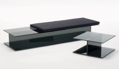 Coussin pour banc I-Beam / L 60 cm - Glas Italia noir en tissu