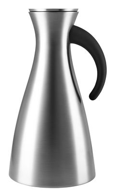 Tableware - Tea & Coffee Accessories - Insulated jug - 1 l / Ø 15.5 x H 29 cm by Eva Solo - Brushed steel - Brushed stainless steel, Thermoplastic