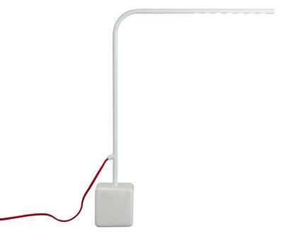 Illuminazione - Lampade da tavolo - Lampada da tavolo Birdy High - LED - H 60 cm di Forestier - Bianco - High - H 60 cm - Marmo, metallo laccato