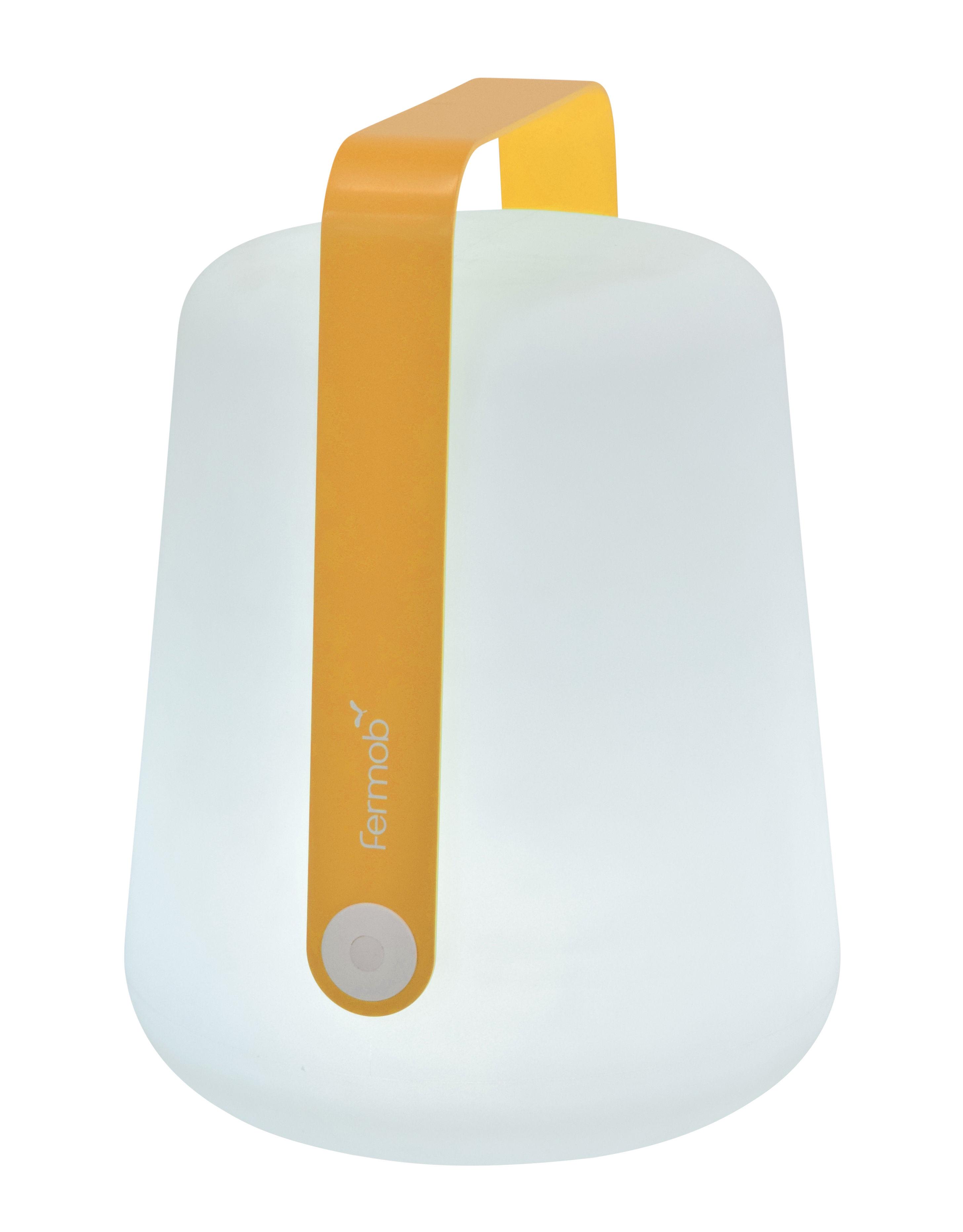Illuminazione - Lampade da tavolo - Lampada senza fili Balad Large LED - / H 38 cm - Ricarica USB di Fermob - Miele - Alluminio, Polietilene