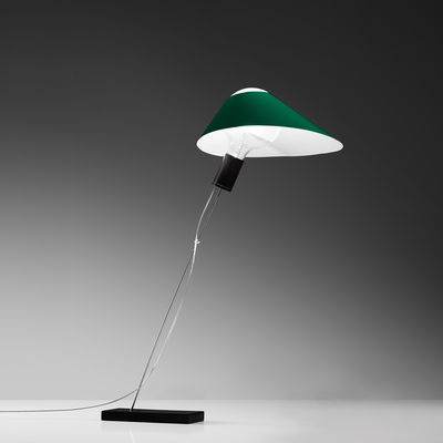 Lampe de table Glatzkopf Papier Ingo Maurer vert en papier