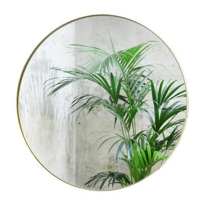 Déco - Miroirs - Miroir mural Cruziana Rond / Ø 47 cm - ENOstudio - Laiton - Acier, Verre