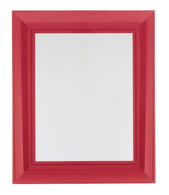 Mobilier - Miroirs - Miroir mural Francois Ghost / 65 x 79 cm - Kartell - Rouge - Polycarbonate