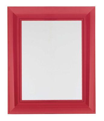 Mobilier - Miroirs - Miroir mural Francois Ghost / 65 x 79 cm - Kartell - Rouge - Polycarbonate