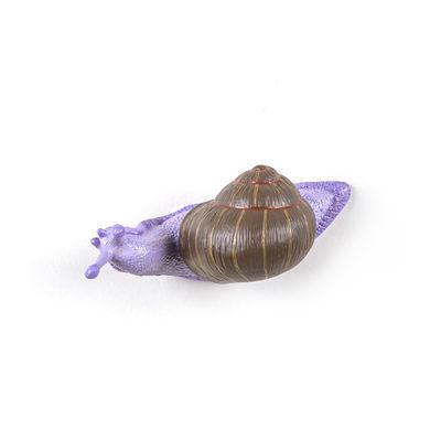 Mobilier - Portemanteaux, patères & portants - Patère Snail Slow / Escargot - Résine - Seletti - Violet & marron - Résine