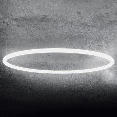 Lighting - Pendant Lighting - Alphabet of light Circular Pendant - / Bluetooth - Ø 155 cm by Artemide - Ø 155 cm / White - Aluminium, Methacrylate
