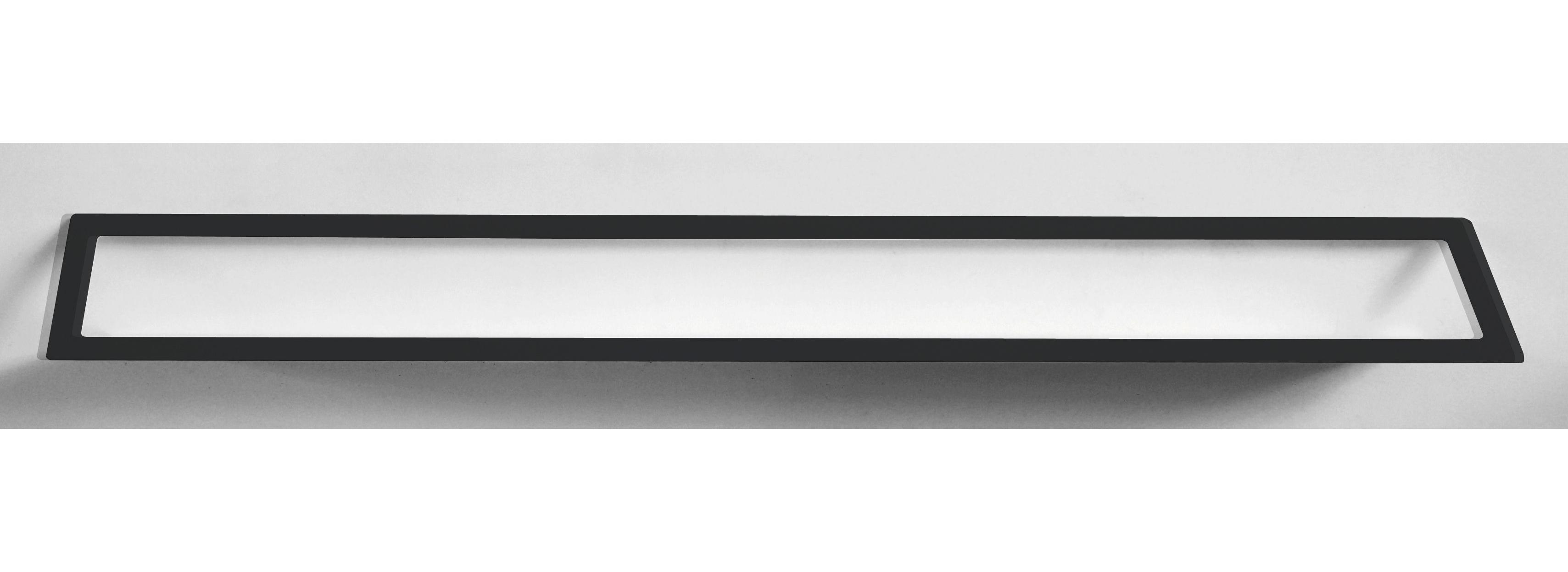 Möbel - Regale und Bücherregale - Air Regal / L 240 cm - Zeus - Schwarzmatt, phosphatiert - phosphatierter Stahl