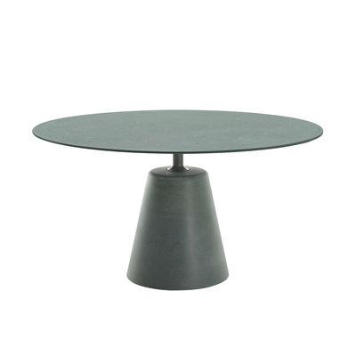 Outdoor - Garden Tables - Rock OUTDOOR Round table - / Ø 140 cm - Concrete by MDF Italia - Green - Concrete, Steel