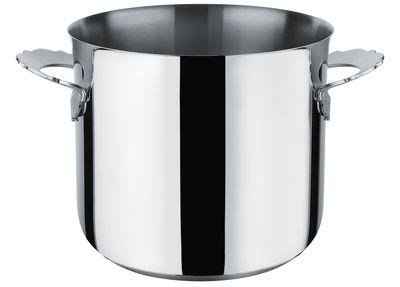 Küche - Pfannen, Koch- und Schmortöpfe - Dressed Schmortopf / Ø 20 cm - Alessi - Ø 20 cm / Stahl glänzend - Rostfreier Stahl 18/10
