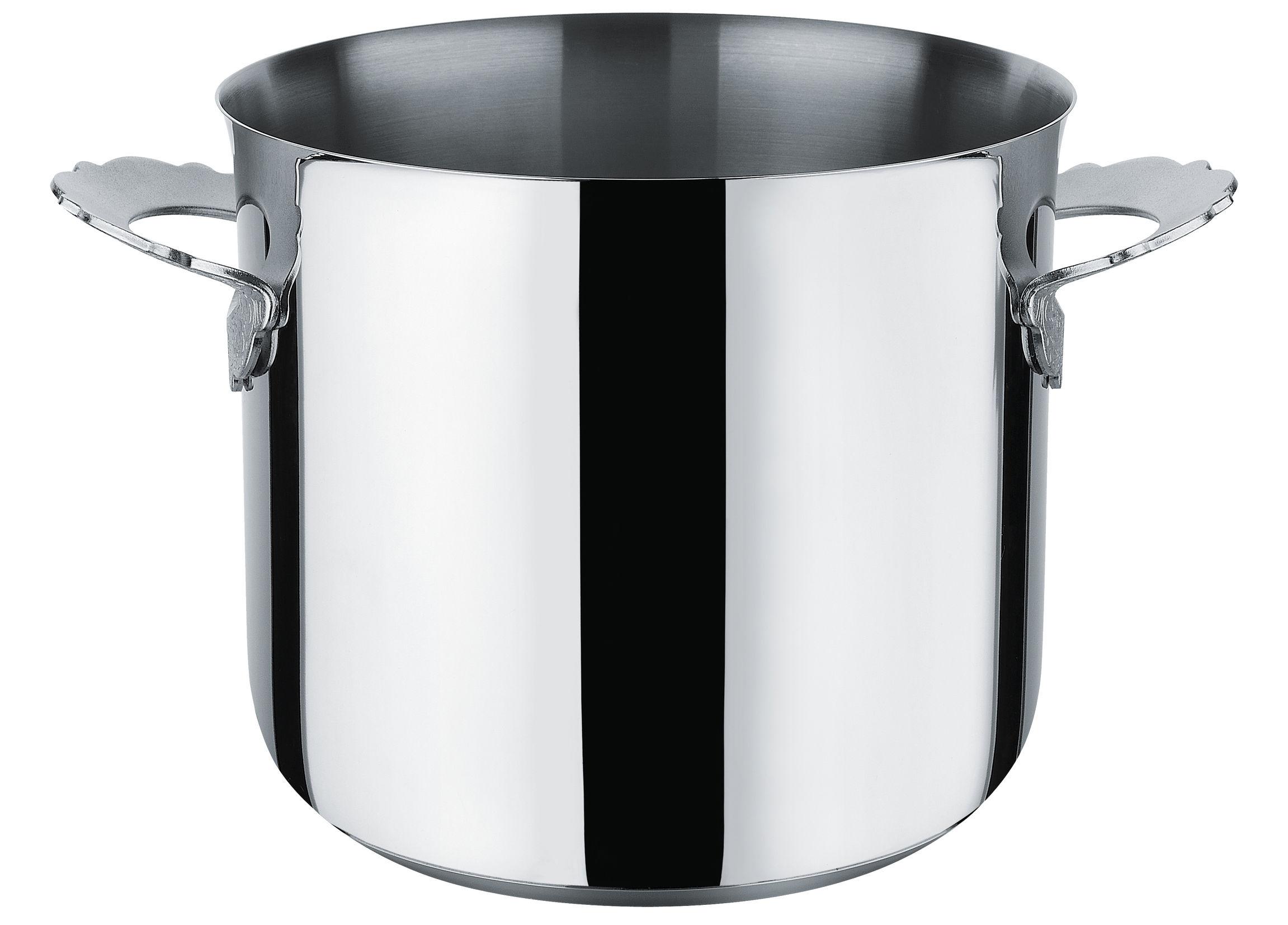 Küche - Pfannen, Koch- und Schmortöpfe - Dressed Schmortopf / Ø 20 cm - Alessi - Ø 20 cm / Stahl glänzend - Acier inoxydable 18/10