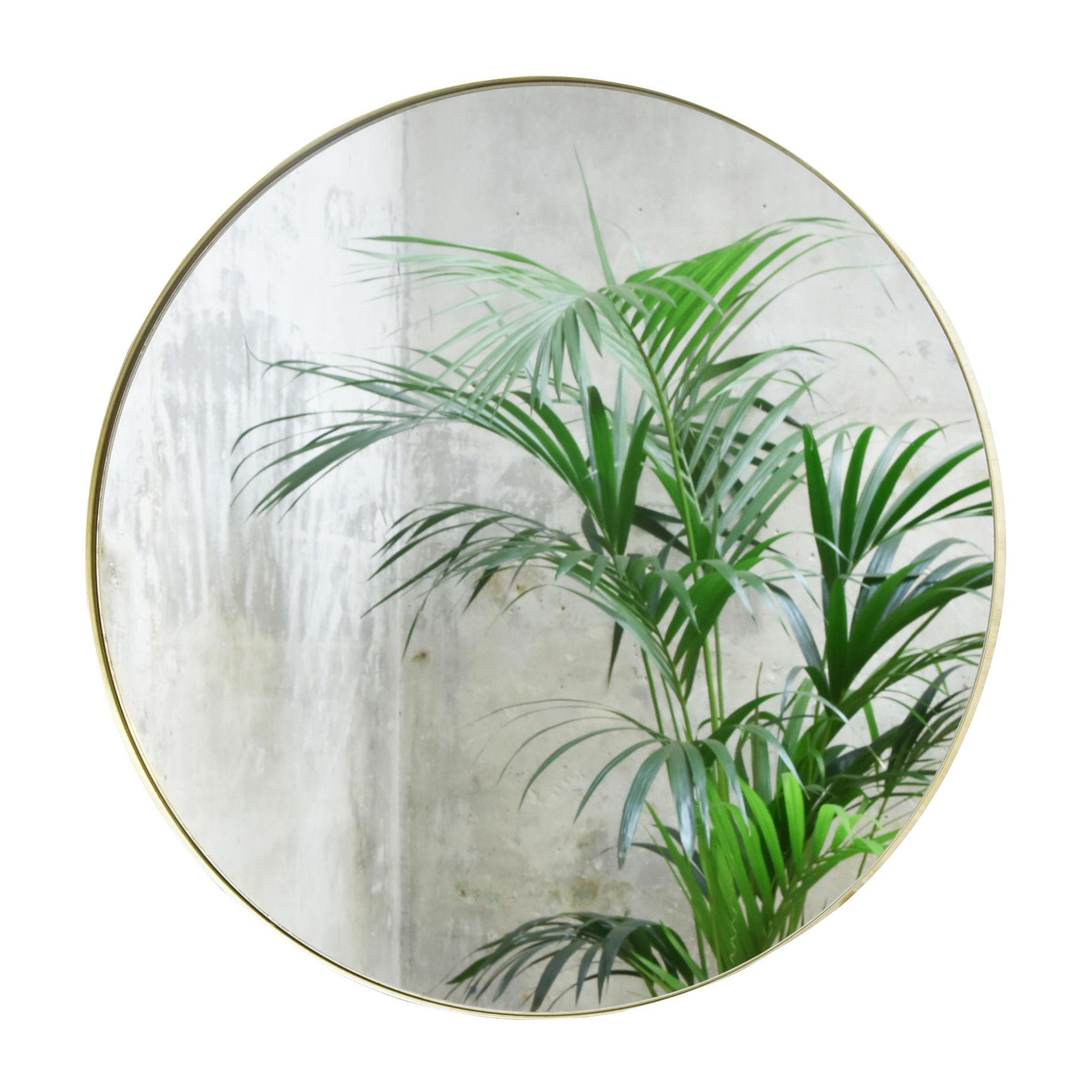 Interni - Specchi - Specchio murale Cruziana Rond - / Ø 47 cm di ENOstudio - Ottone - Acciaio, Vetro