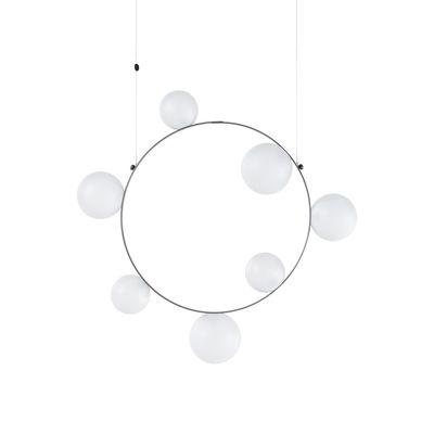 Luminaire - Suspensions - Suspension Hubble Bubble 7 / LED - Ø 73 cm / Verre givré - Moooi - Verre givré (opalin) - Métal, Verre soufflé