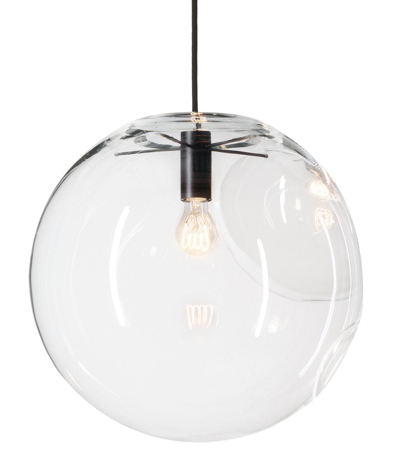 Luminaire - Suspensions - Suspension Selene / Ø 30 cm - Verre soufflé bouche - ClassiCon - Noir / Transparent - Métal laqué, Verre soufflé bouche