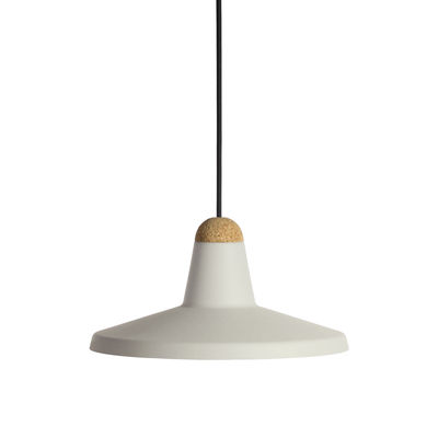Suspension Tao / Ø 30 cm - Métal & liège - EASY LIGHT by Carpyen liège,gris craie en métal