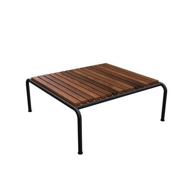 Mobilier - Tables basses - Table basse Avon / 81 x 81 cm - Frêne tehrmo-traité - Houe - Bois / Noir - Acier thermolaqué, Frêne thermo-traité FSC