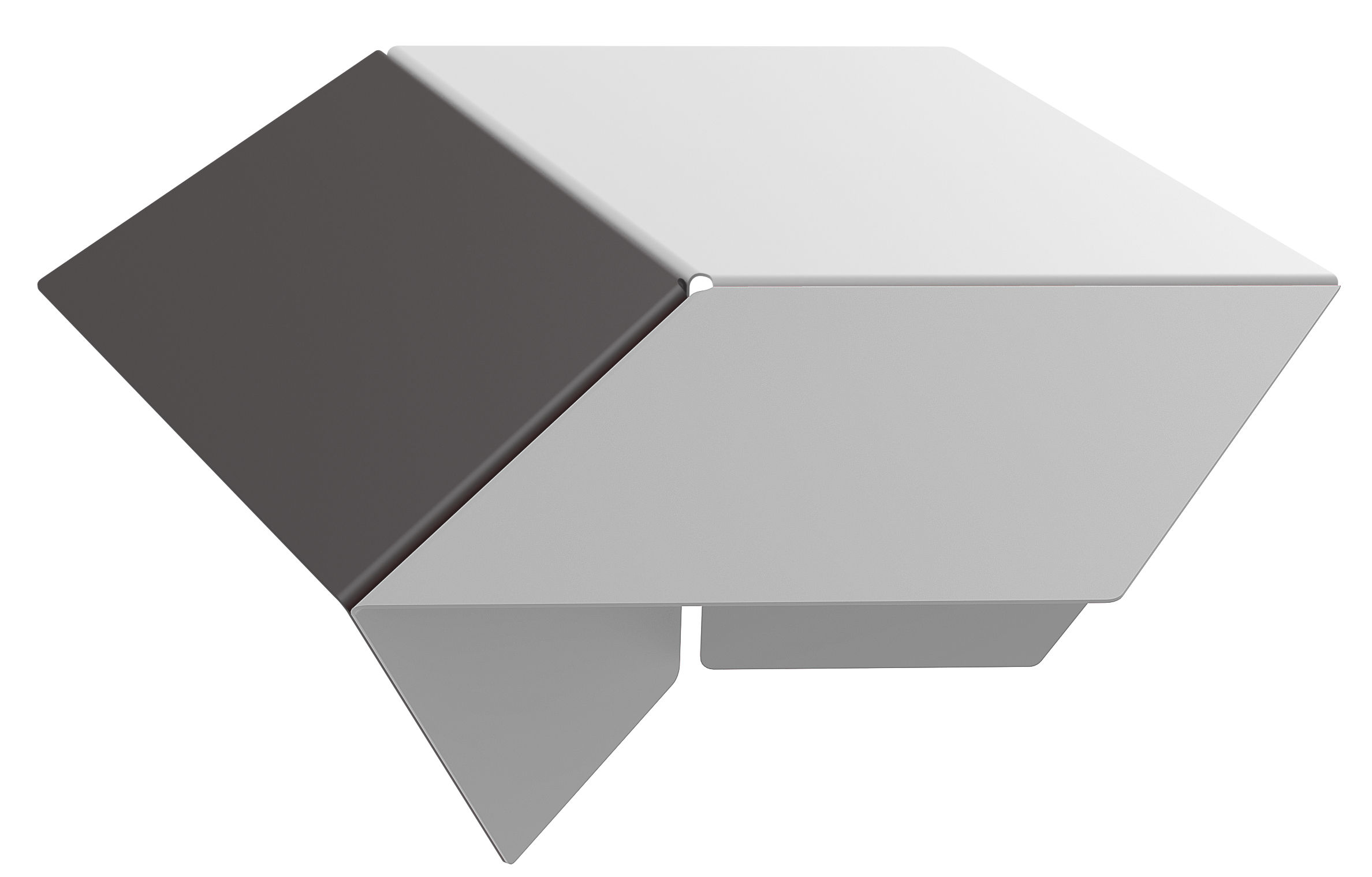 Mobilier - Tables basses - Table basse Kuban / H 25 cm - Matière Grise - Gris, Anthracite, Blanc - Acier