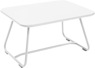 Table basse Sixties / Acier - 75 x 55 cm - Fermob blanc en métal