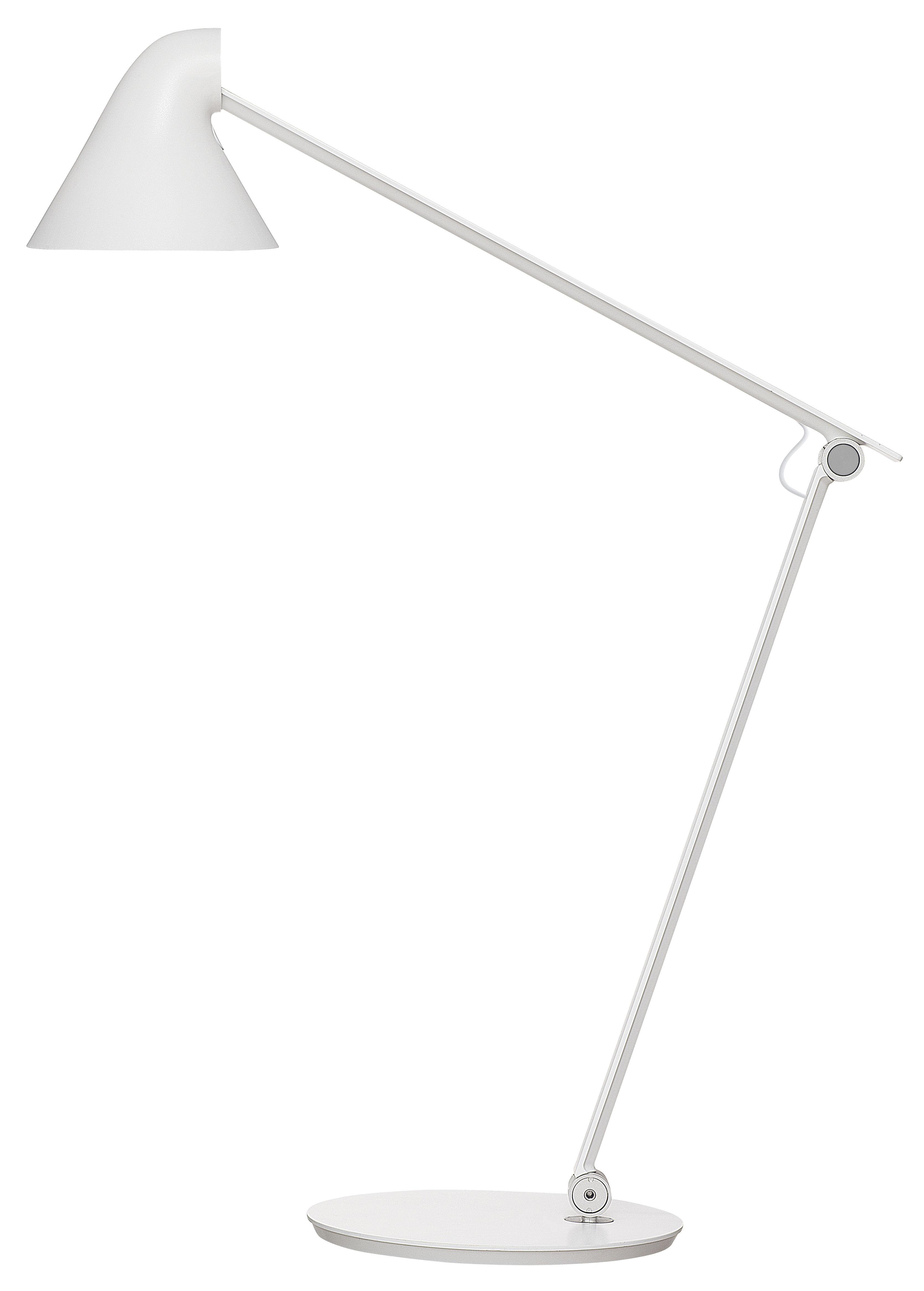 Lighting - Table Lamps - NJP Table lamp - LED by Louis Poulsen - White - Very warm light 2700K - Aluminium, Steel
