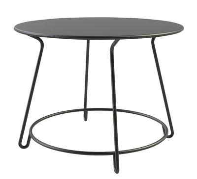 Jardin - Tables de jardin - Table ronde Huggy / Ø 100 cm - Aluminium - Maiori - Ø 100 cm / Carbone - Aluminium laqué époxy
