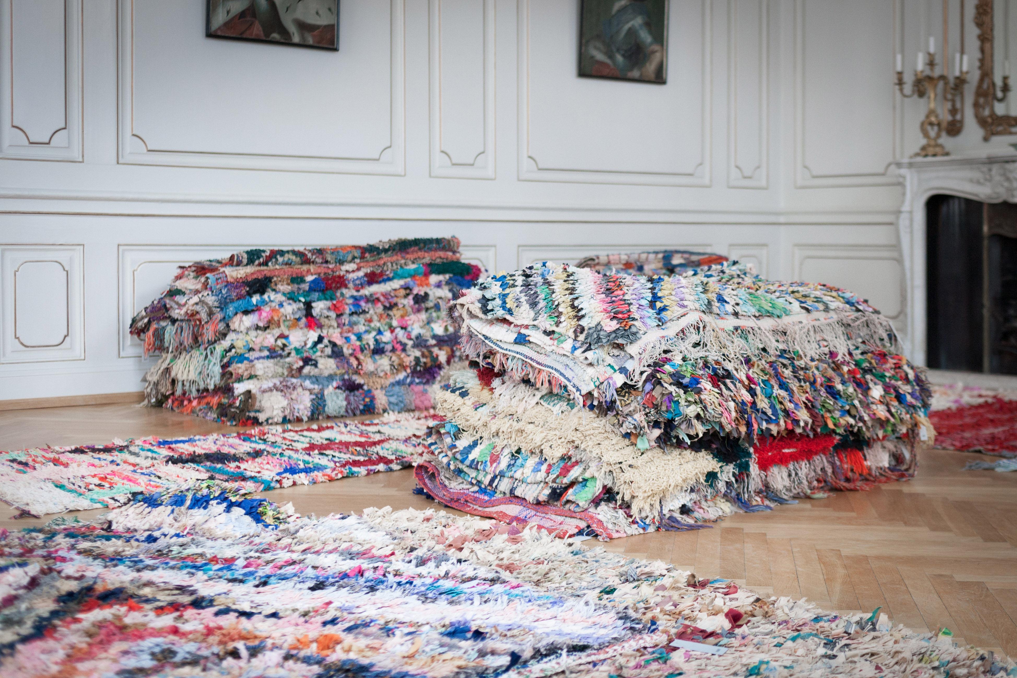 Boucherouite Tapis tapis boucherouite / petit modèle small - multicolore - hay