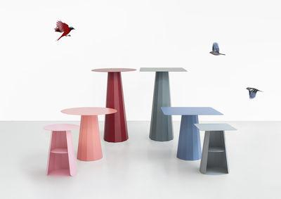 Tavoli Alti Bar : Ankara tavolo bar alto Ø h cm rosso porpora by