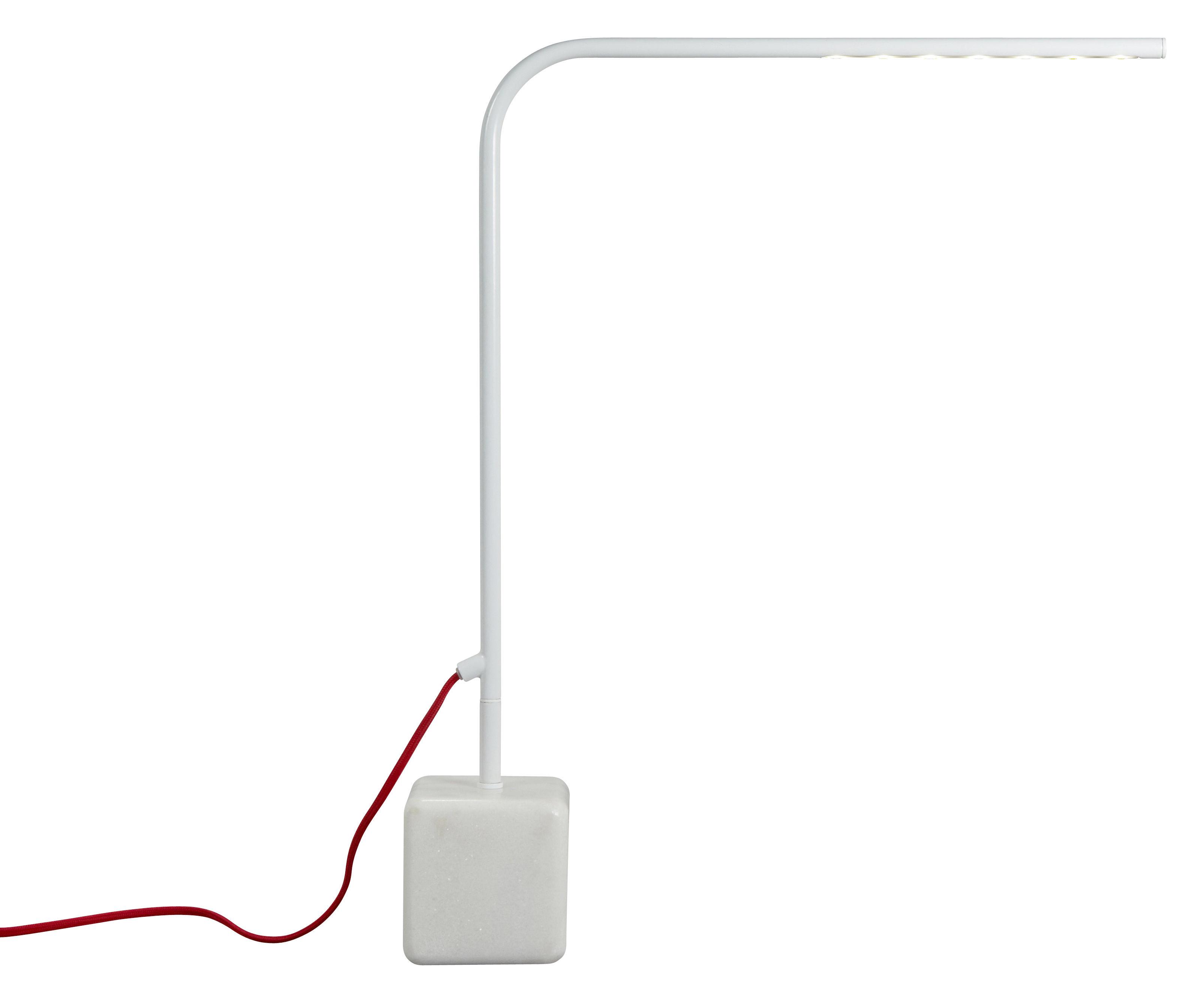Leuchten - Tischleuchten - Birdy High Tischleuchte LED - H 60 cm - Forestier - Weiß - High - H 60 cm - lackiertes Metall, Marmor