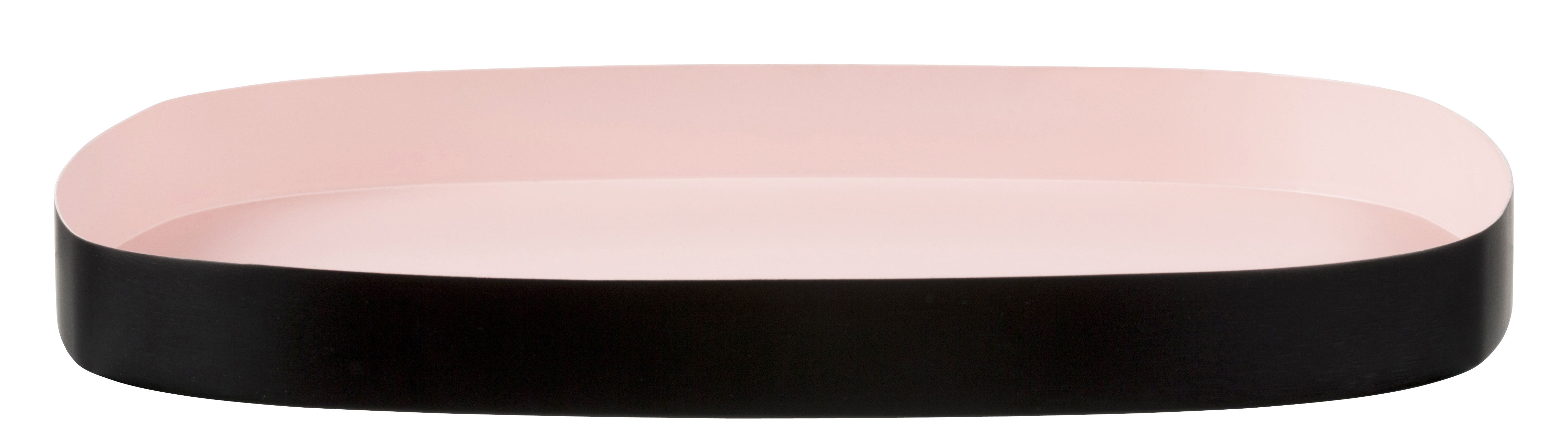 Tableware - Trays - Television Large Tray - 33 x 29 cm by Design Letters - Pink / Black - Painted steel