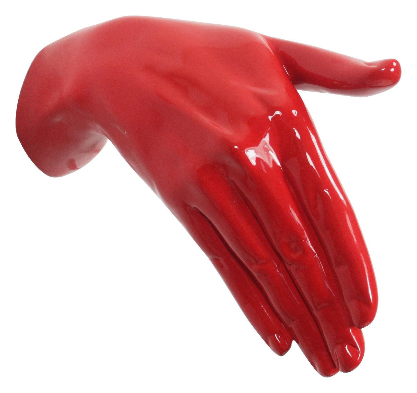 Möbel - Garderoben und Kleiderhaken - Hand Job - Shake Wandhaken - Thelermont Hupton - Rot - lackiertes Harz