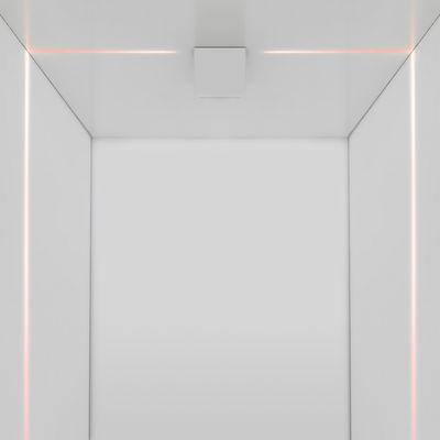 Applique Antarktikós LED RGB / Plafonnier - Projection de Lumière colorée - Artemide blanc en métal