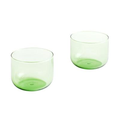 Tavola - Bicchieri  - Bicchiere Tint Small - / Set di 2 - H 5,5 cm / 200 ml di Hay - verde - Vetro borosilicato