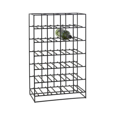 Tableware - Wine Accessories - Bottle rack - in metal / 24 bottles - L 41 x H 67 cm by House Doctor - Black - Iron