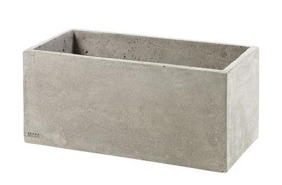 Cache-pot Concrete Box Rectangulaire / 29 x 14,5 cm / Pour console Herb - Serax gris en pierre