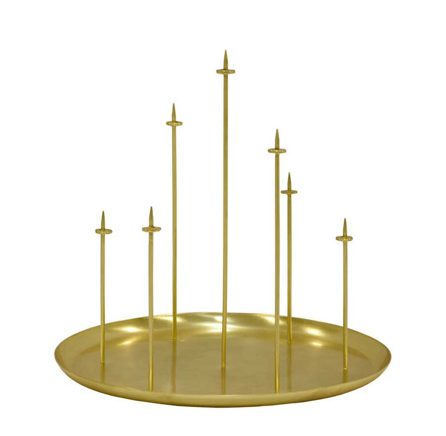 Decoration - Candles & Candle Holders - Multi pin Candelabra by ENOstudio - Brass - Acier finition laiton