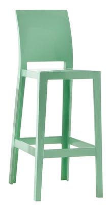 Chaise de bar One more please / H 65cm - Plastique - Kartell vert en matière plastique