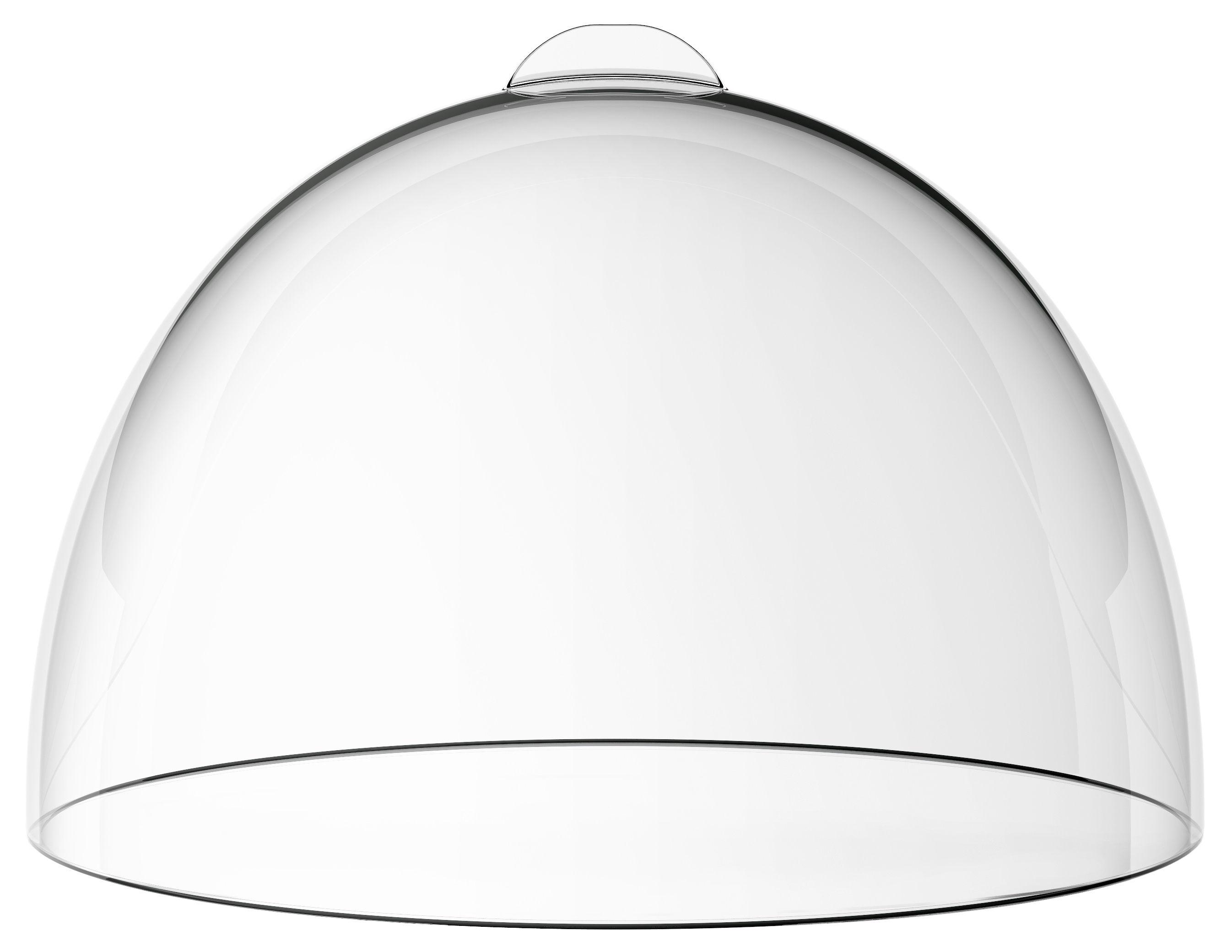 Arts de la table - Plats - Cloche / Pour Plateau à gâteau Bolle - Italesse - Transparent - Plastique SAN